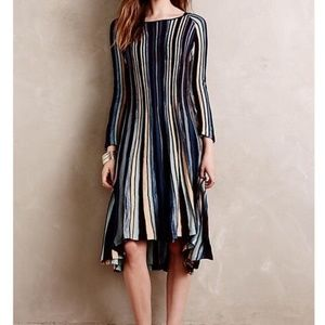 Anthropologie Moth Striped Sweater Dress  NWT
